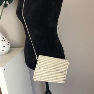 Sole society beaded clutch